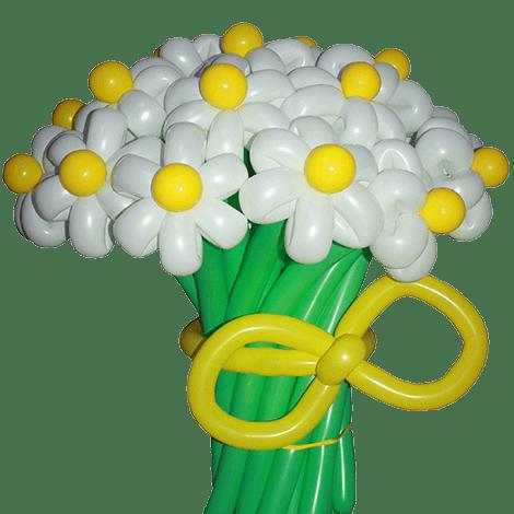 букет ромашек из воздушных шариков