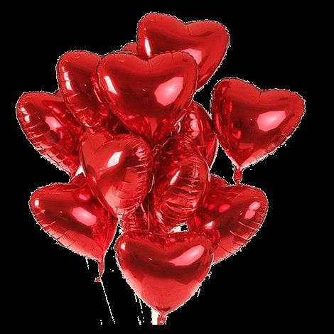 Букет фольгированных сердец-шаров Сердечный