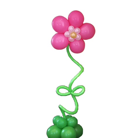Воздушный шар цветок