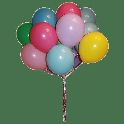 Нежное облако из разноцветных шариков