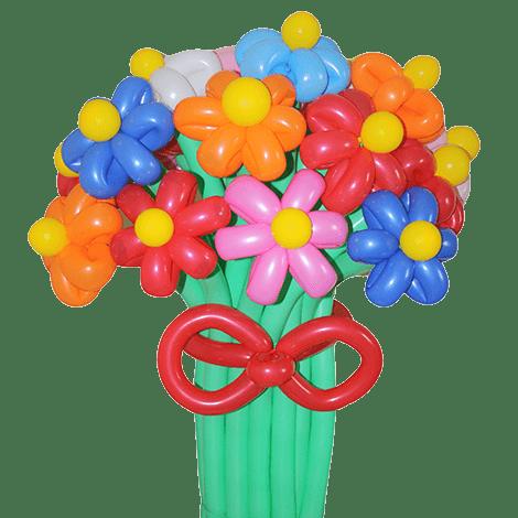 букет из воздушных шаров ромашки разноцветные