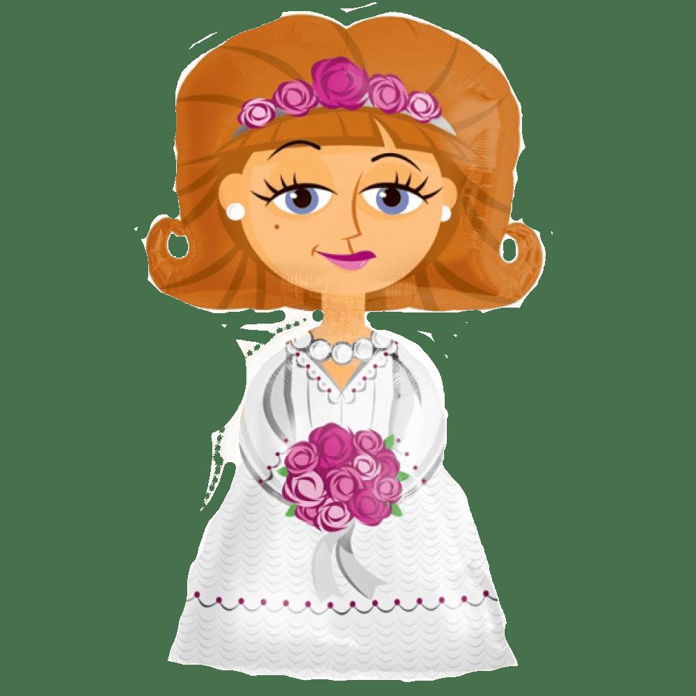 Фольгированная фигура воздушный шар невеста
