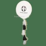 Заказать большой шар с надписью и гирляндой тассел