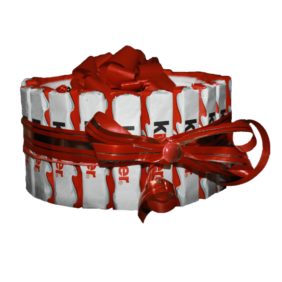 Сладкий подарок торт из Киндеров
