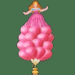 Заказать композицию воздушных шаров с принцессой