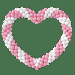Фигура сердце из воздушных шаров