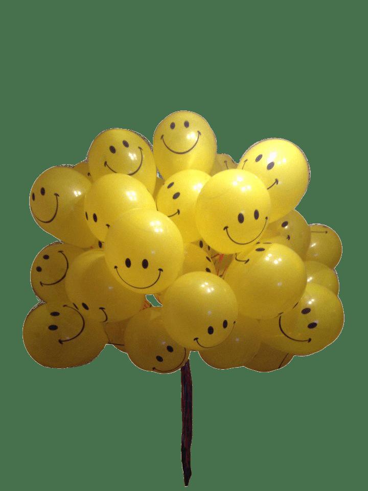 Букет воздушных шариков в виде смайлика