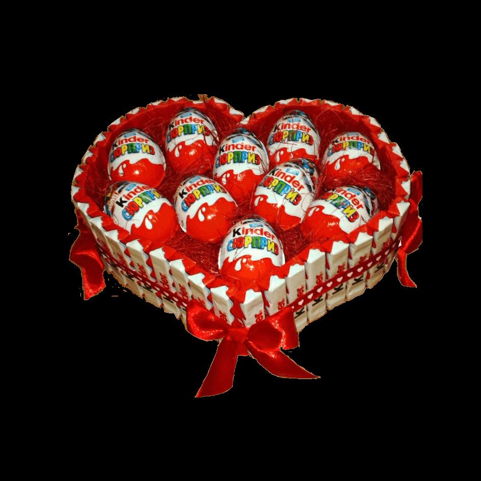Сердце из киндер сюрпризов
