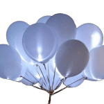 Купить белые светящиеся шары с гелием