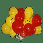 Букет воздушных шаров смайлики и сердца