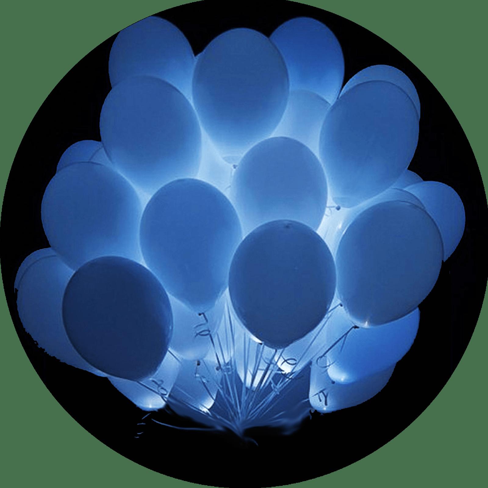 Светящиеся гелиевые шары Белые 25 шт.