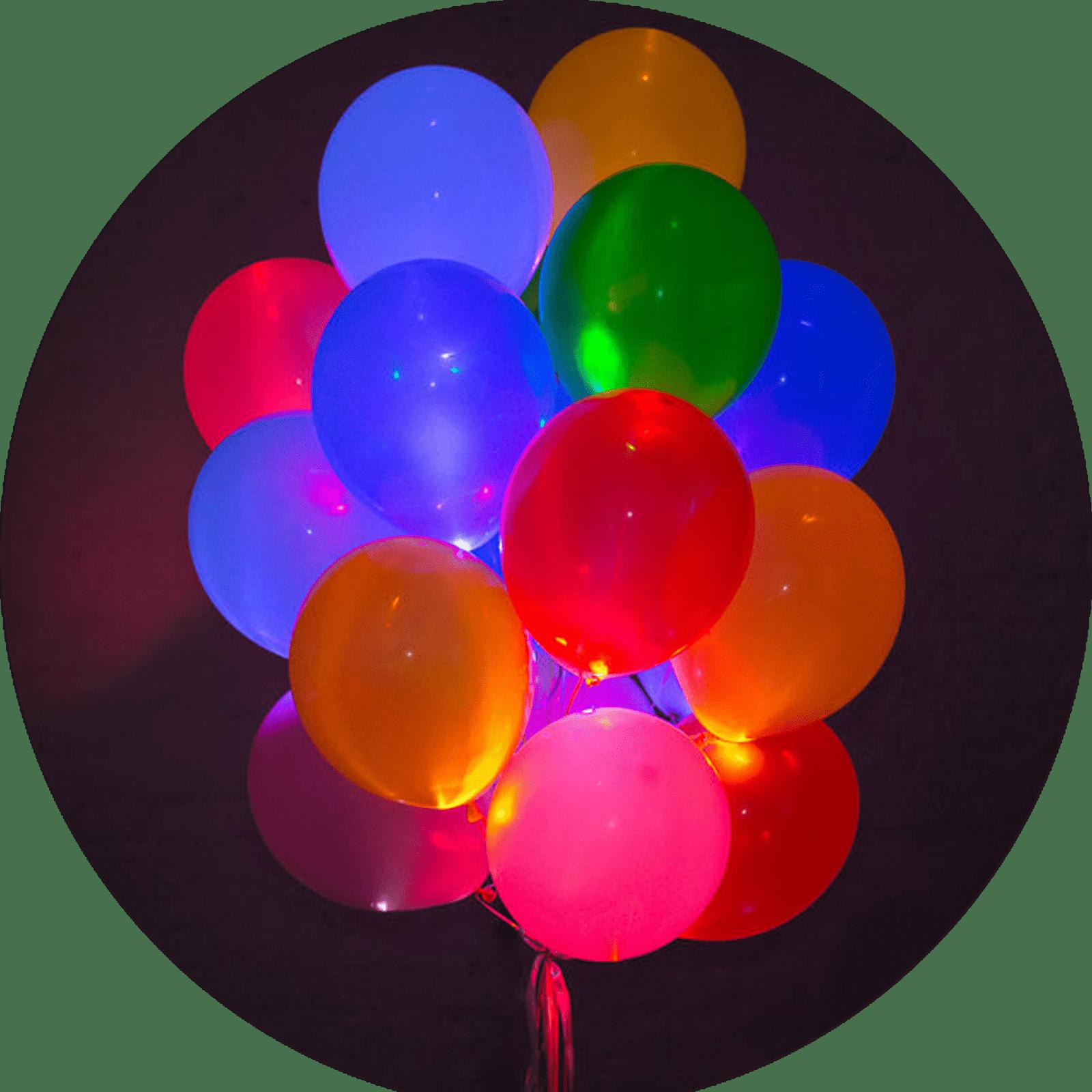 """Светящиеся гелиевые шары """"Ассорти"""" 25 шт."""