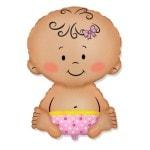 Фольгированный шар Малыш девочка
