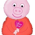 Фольгированный гелиевый шар Свинка Пеппа