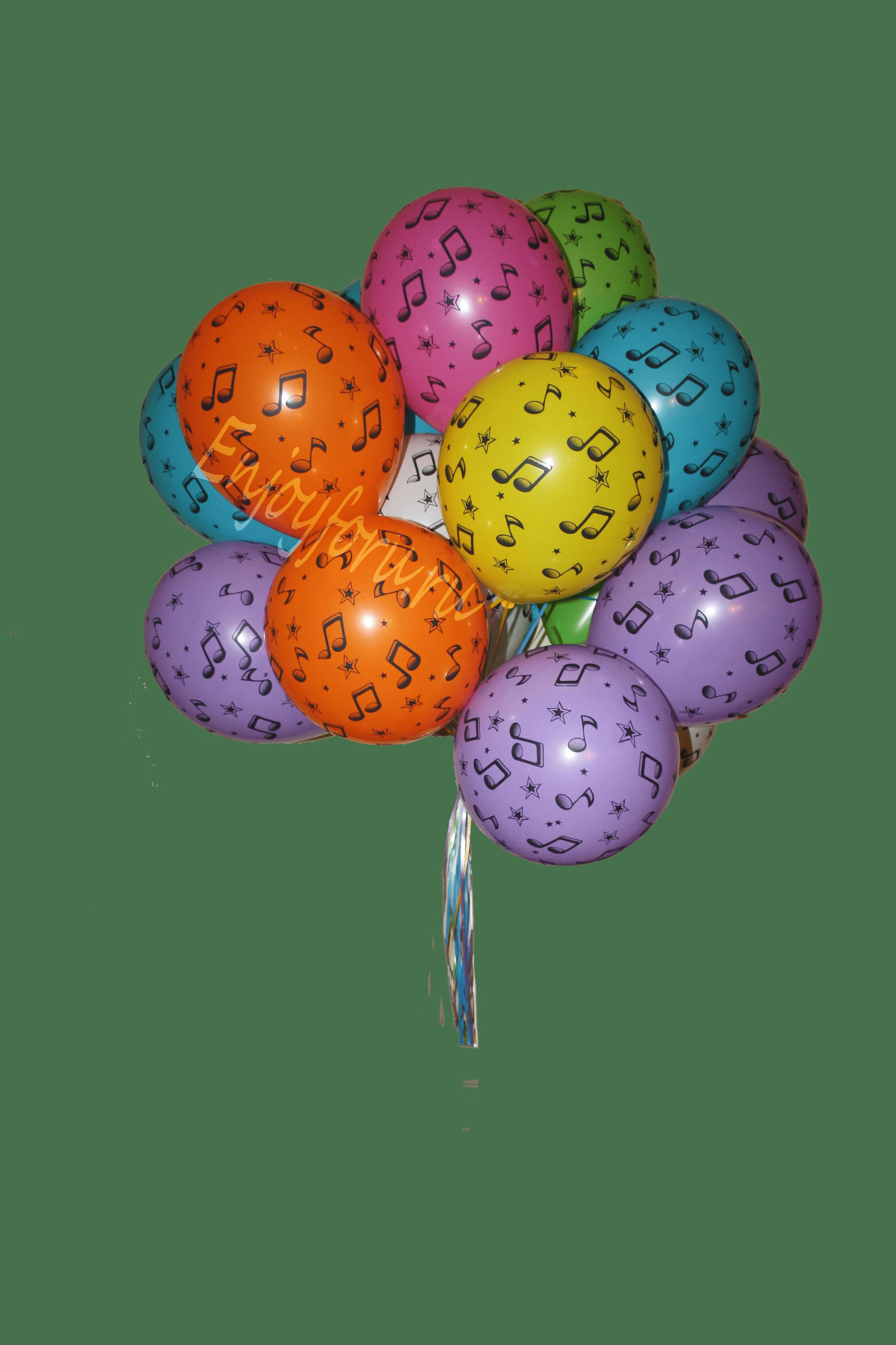 Букет из воздушных шариков с нотами