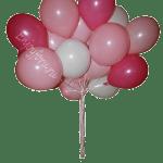 Букет из шаров нежно розового, белого, малинового цвета
