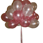 Букет из воздушных шаров нежно розового и белого цвета
