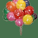 Букет из цветных шаров с надписью поздравляем