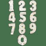 Фольгированные шары-цифры белые со звездами
