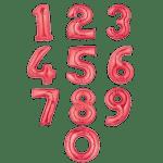 Заказать фольгированные гелиевые цифры красные с доставкой
