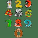 Фольгированные шары-цифры в виде животных