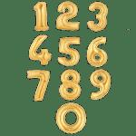 Золотые фольгированные шары-цифры