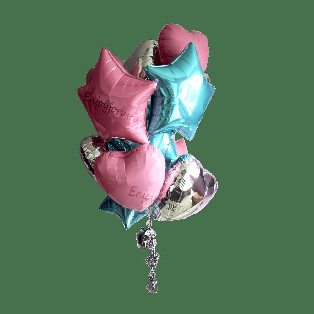 Букет гелиевых шаров ослепительный
