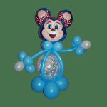 фигура из воздушных шариков мышка голубого цвета