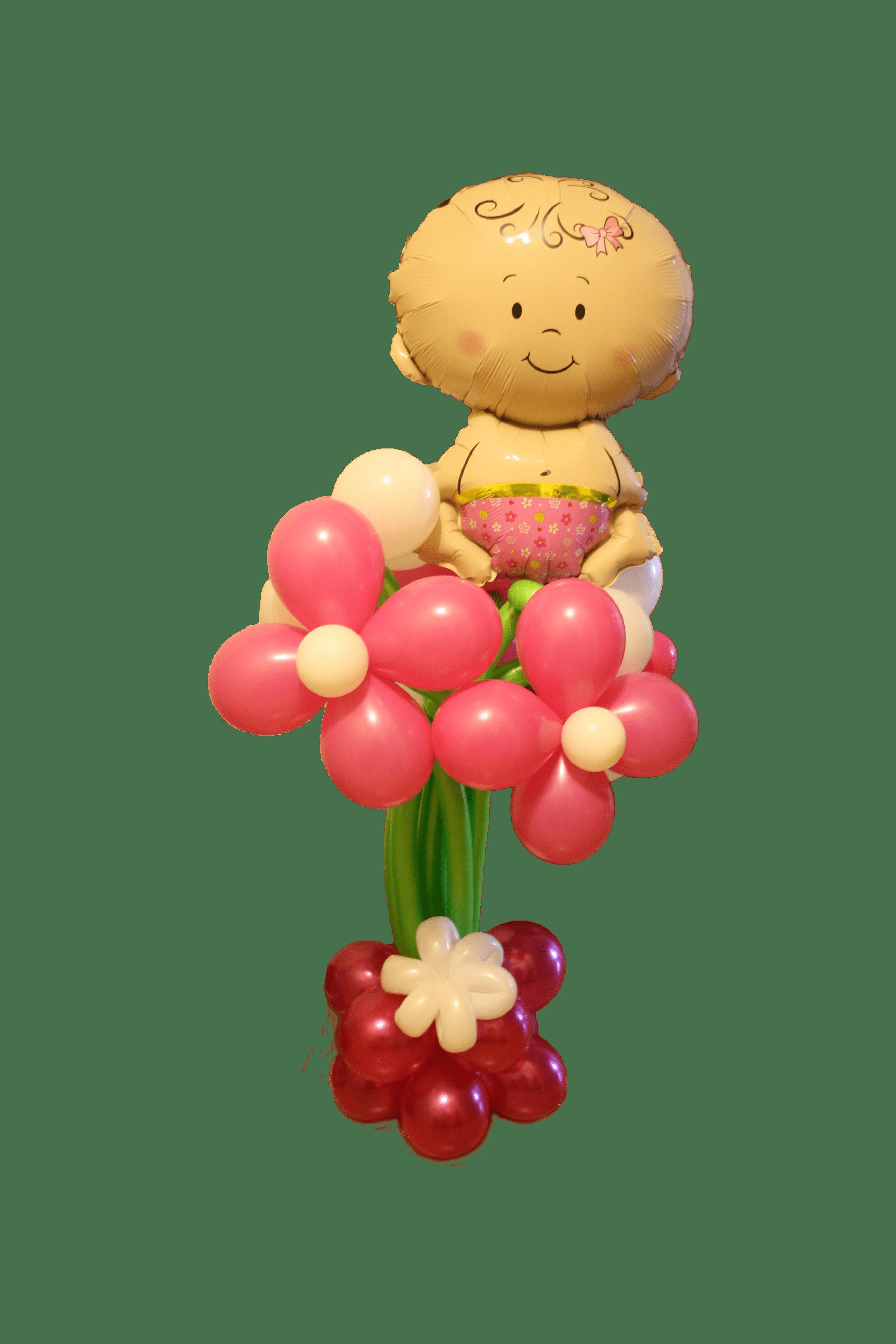 Воздушный шар девочка в цветке