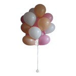 Фонтан гелиевых воздушных шаров нежность