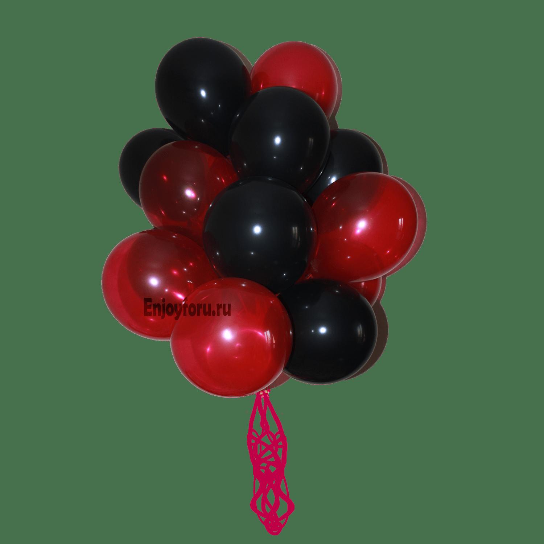Букет из воздушных шаров черно-красный
