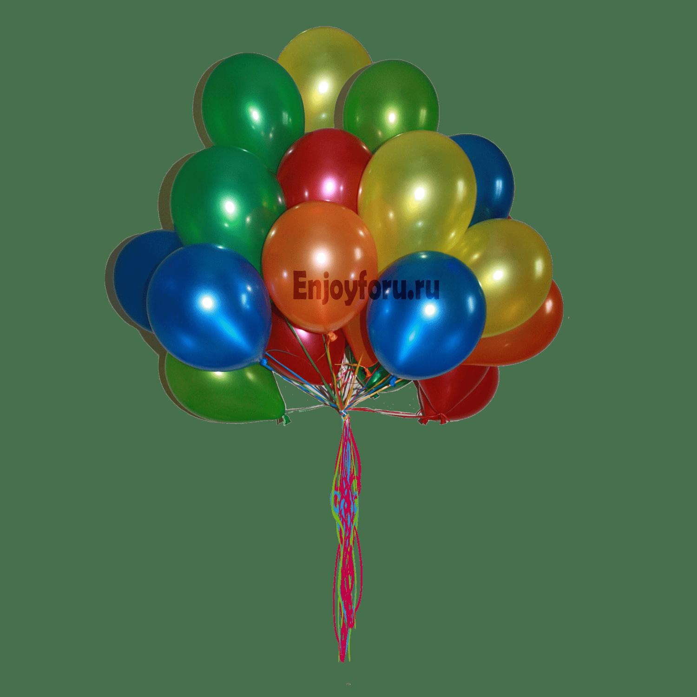 облако из воздушных шариков разноцветное
