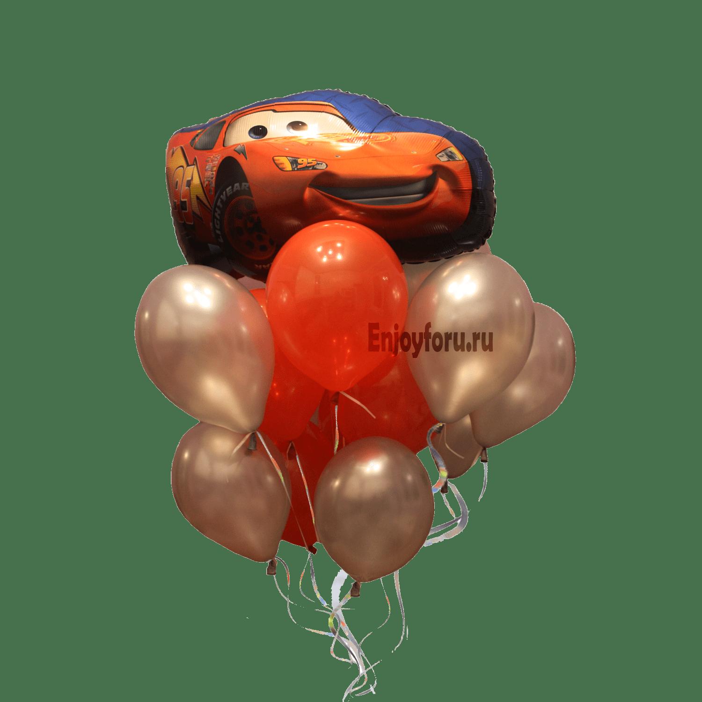 Букет гелиевых шаров тачки