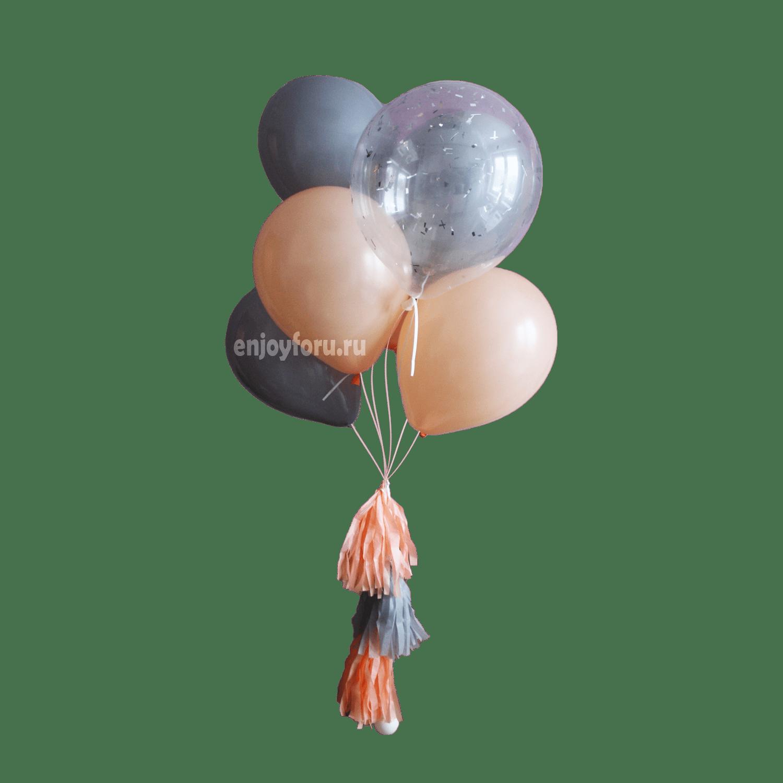 Фонтан гелиевых шаров для фотосессии