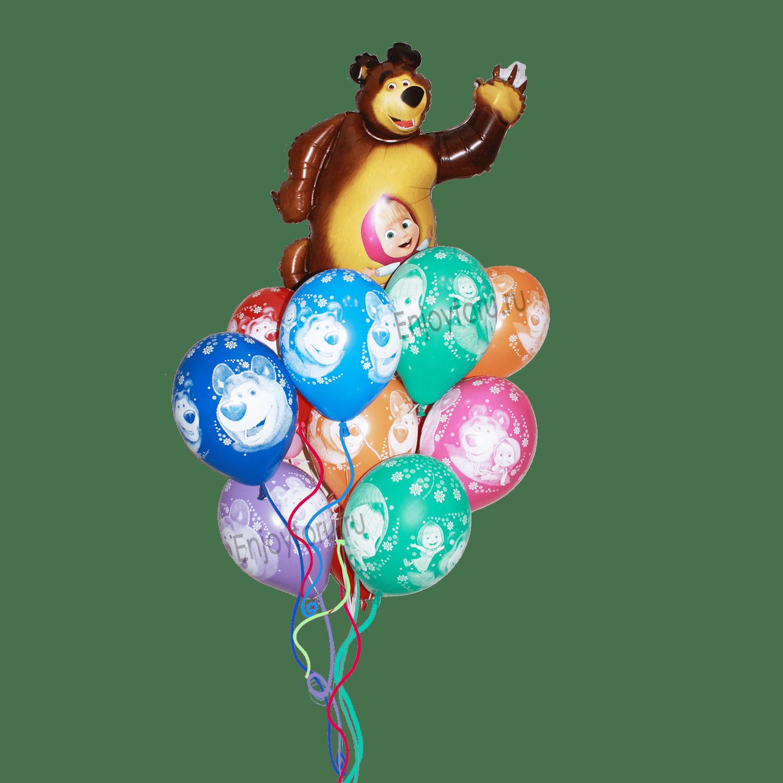 Заказать букет гелиевых шаров маша и медведь