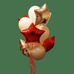 Заказать букет гелиевых шаров со звездами