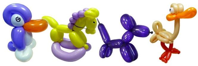 Фигуры из надувных шариков