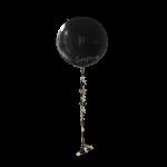 Купить большой гелиевые шар с гирляндой и лентами