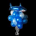 Букет гелиевых шариков злобная акула