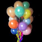 облако из двойных шаров прозрачный с цветным