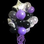Букет гелиевых надувных шаров ярко фиолетовый