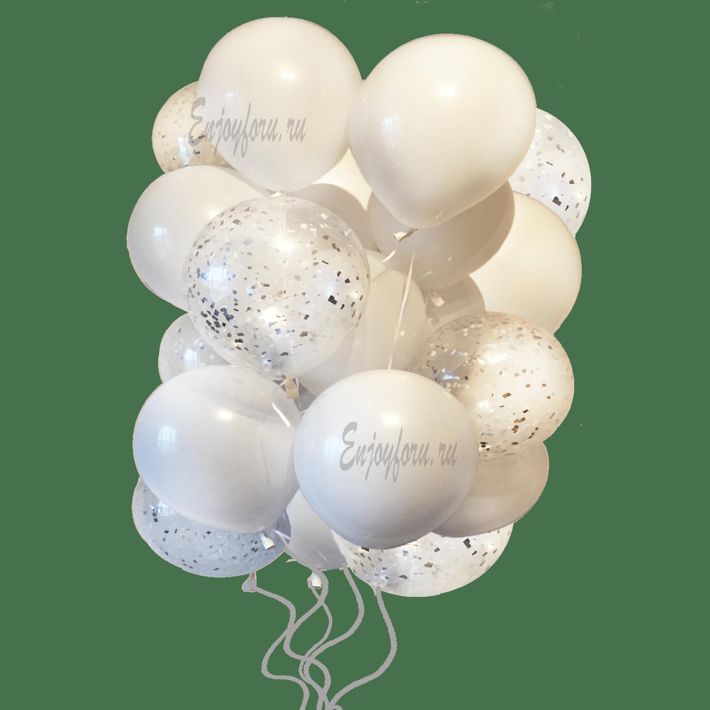 Свадебное облако из воздушных шаров