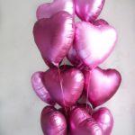 """Фольгированные сердечки """"Розовые"""""""