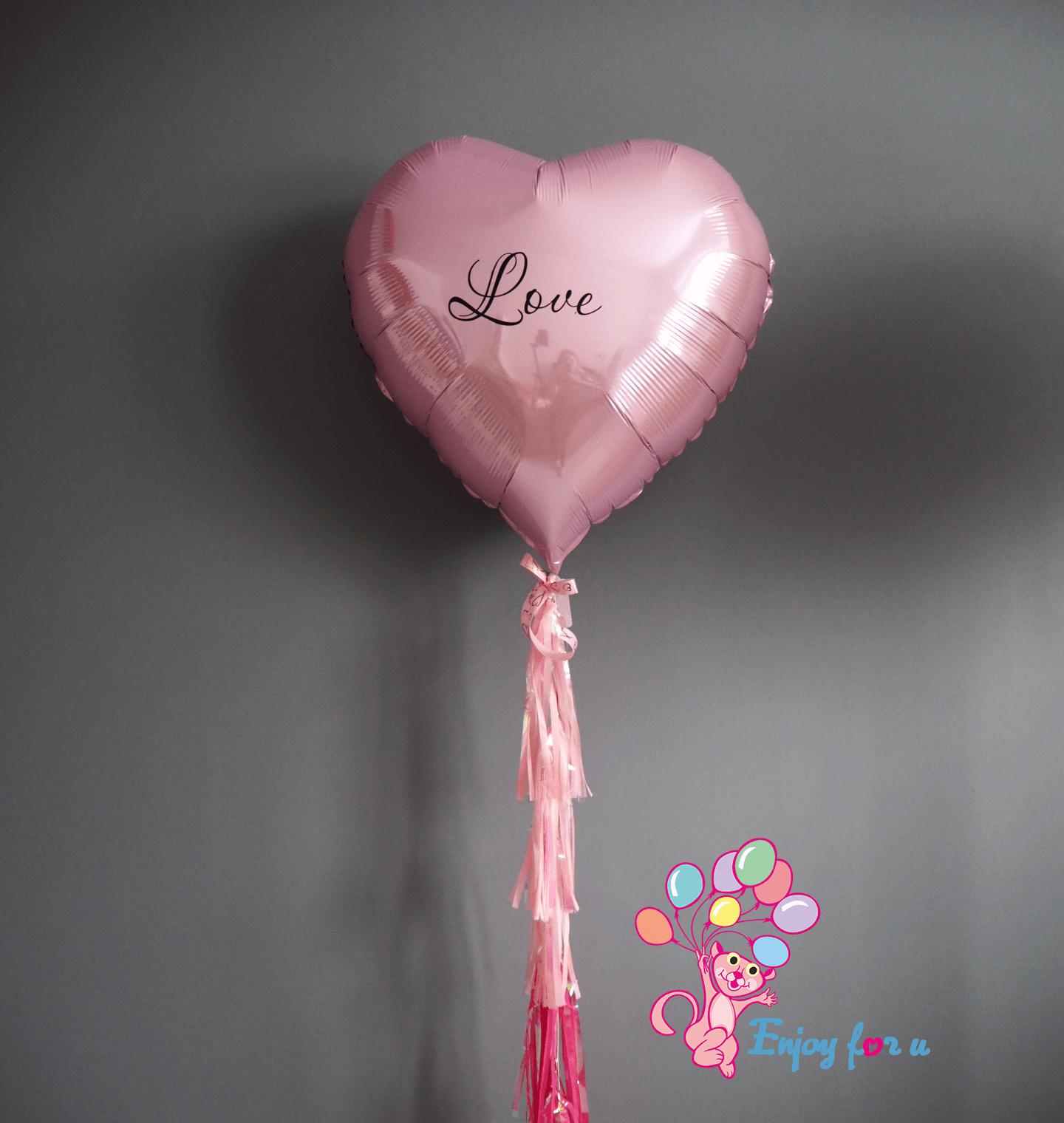 """Большое фольгированное сердце """"Love"""""""
