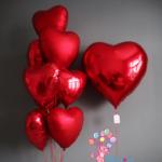 """Набор фольгированных шаров """"Много сердец"""""""