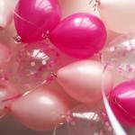 Фуксия, розовые и шарики с конфетти - 25 шт