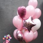"""Фонтан из шаров """"Розовый"""""""